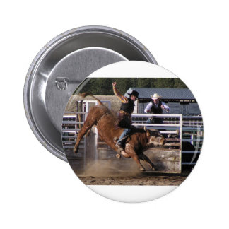 Bull Rider Extreme Pinback Button