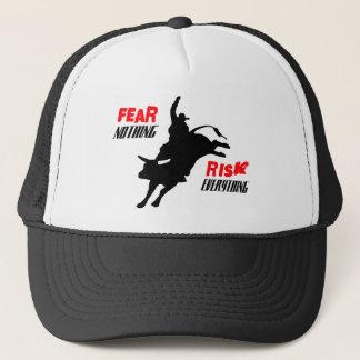 "Bull Rider ""Fear Nothing Risk Everything"" Trucker Hat"