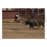 Bull rider gets airlifted greeting card