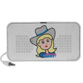 Bull Rider Head Light/Blonde Portable Speakers