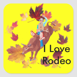 Bull Rider I Love Rodeo Stickers