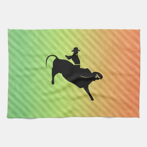 Bull Rider Kitchen Towels