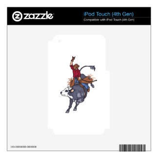 BULL RIDER LARGER iPod TOUCH 4G DECAL