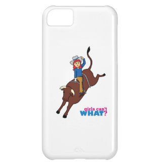 Bull Rider Light/Red Cover For iPhone 5C