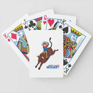 Bull Rider Light/Red Deck Of Cards