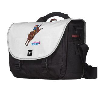 Bull Rider Light/Red Laptop Commuter Bag