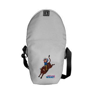 Bull Rider Light/Red Messenger Bag