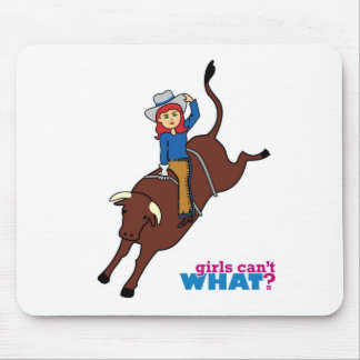 Bull Rider Light/Red Mouse Pad