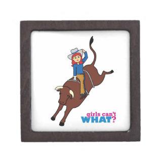 Bull Rider Light/Red Premium Jewelry Box