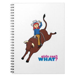 Bull Rider Light/Red Spiral Note Book