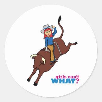 Bull Rider Light Red Sticker