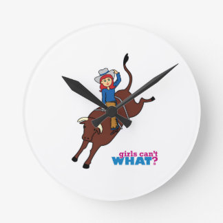 Bull Rider Light/Red Wall Clocks