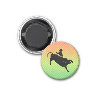 Bull Rider 1 Inch Round Magnet