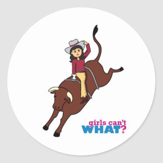 Bull Rider - Medium Round Sticker