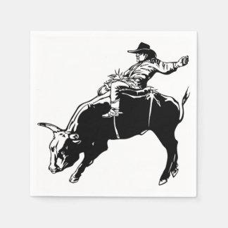 Bull Rider Paper Napkin