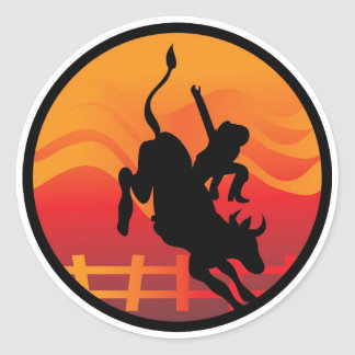 Bull Rider Stickers
