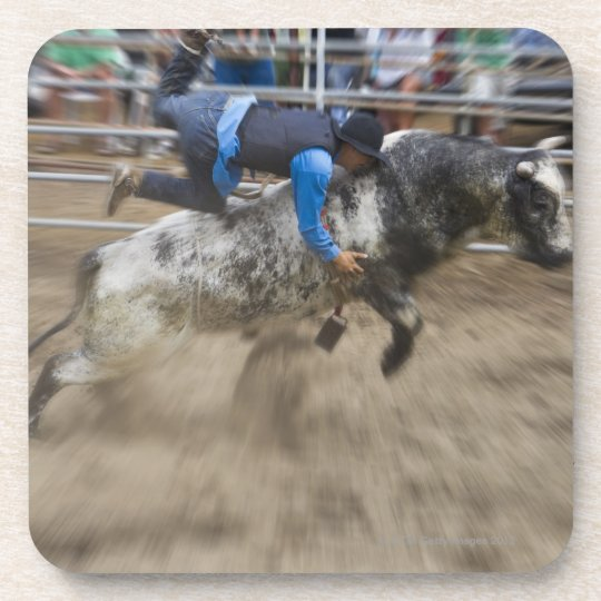 Bull rider thrown off bull coaster