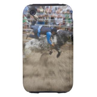 Bull rider thrown off bull iPhone 3 tough cover