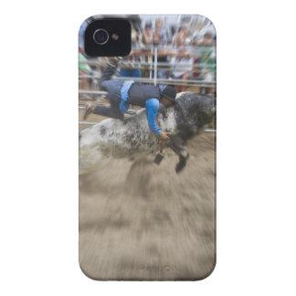 Bull rider thrown off bull iPhone 4 Case-Mate case