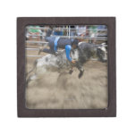 Bull rider thrown off bull keepsake box