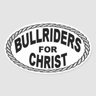 Bull Riders for Christ Euro Style Sticker