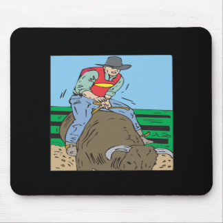Bull Riding 2 Mouse Pad