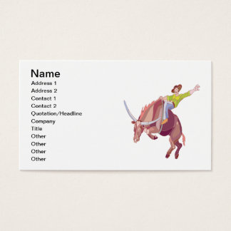 Bull Riding Business Card