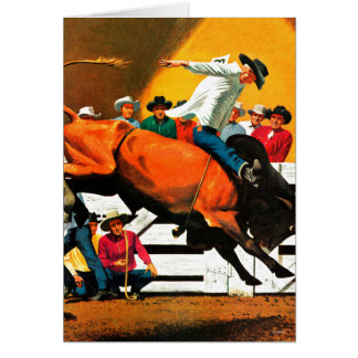 Bull Riding by Fred Ludekens Card