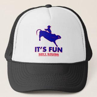 bull riding Designs Trucker Hat