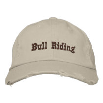 Bull Riding Embroidered Baseball Hat