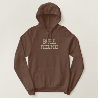Bull Riding Embroidered Hoodie