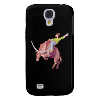 Bull Riding Galaxy S4 Cover
