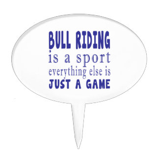 BULL RIDING JUST A GAME CAKE TOPPER