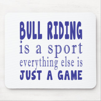 BULL RIDING JUST A GAME MOUSE PAD