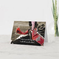 Bull Riding Motivaltional Quote Greeting Card