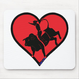 bull riding mouse pad
