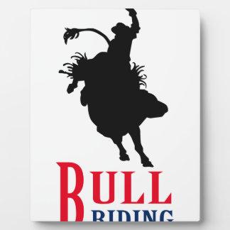 Bull Riding Photo Plaque