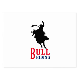 Bull Riding Postcard