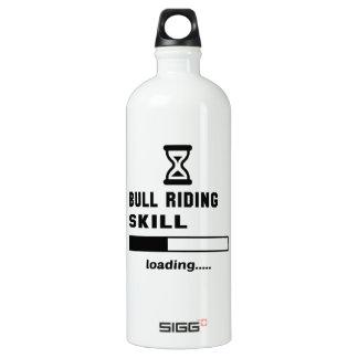 Bull Riding skill Loading...... Aluminum Water Bottle