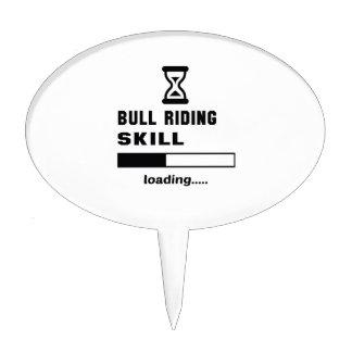 Bull Riding skill Loading...... Cake Topper