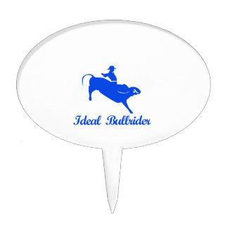 bull riding  sports designs cake topper
