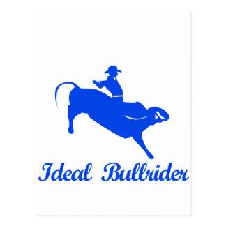 bull riding  sports designs postcard