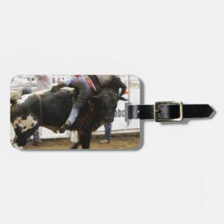 Bull Riding Travel Bag Tags