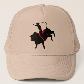 bull riding trucker hat