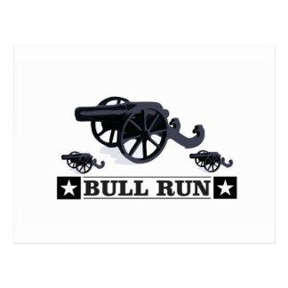 bull run guns postcard