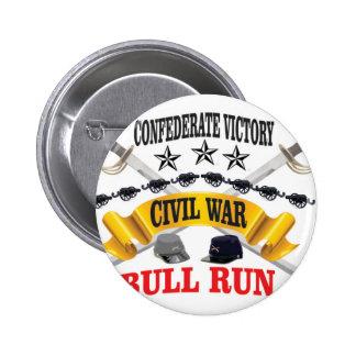bull run of civil war pinback button