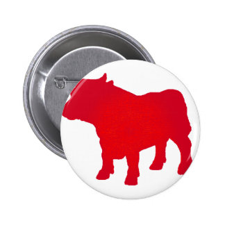 Bull see Red Pinback Button