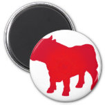 Bull see Red Refrigerator Magnet