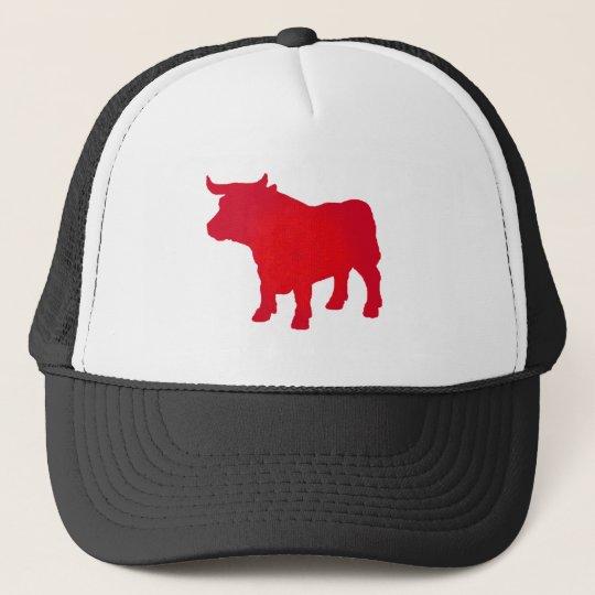 Bull see Red Trucker Hat