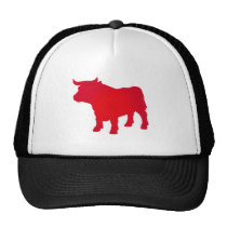 Bull see Red Trucker Hat